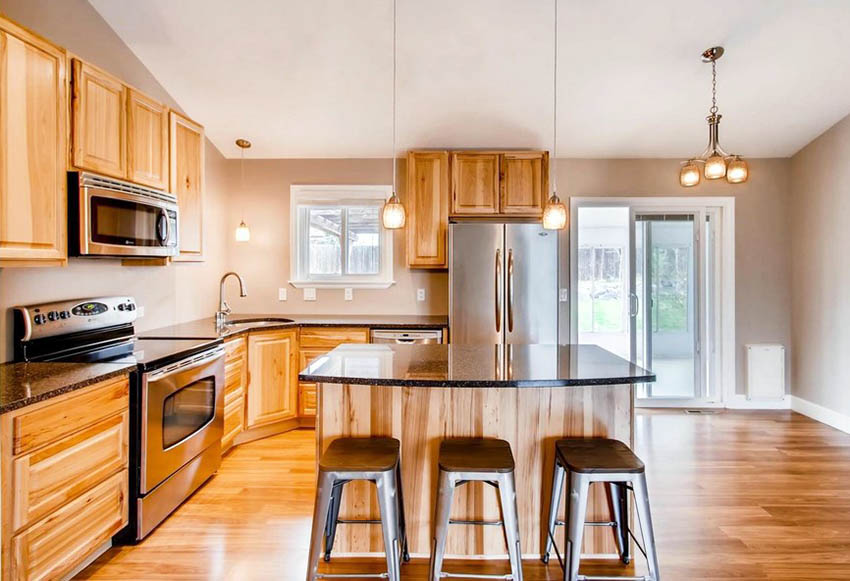 What Flooring Goes with Hickory Cabinets? | Kitchen ...