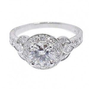 So Elegant and Classy Low Profile Engagement Ring Diamond