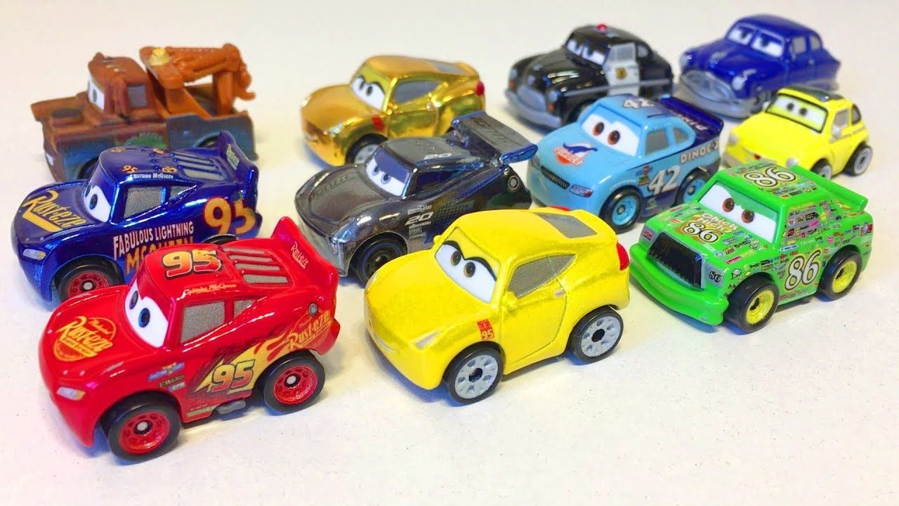 Disney Pixar Cars  Mini Racers Lightning McQueen New Toys Cartoon