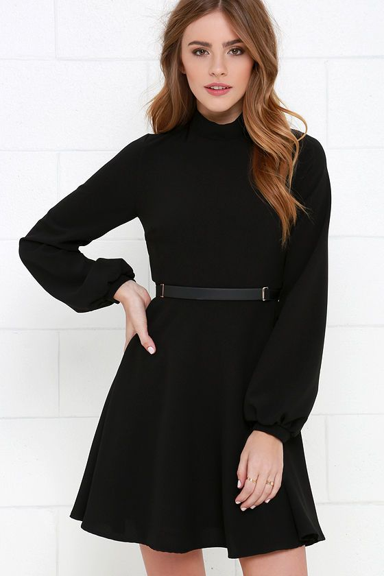 Got the Notion Black Long Sleeve Dress at Lulus.com! 5ee6c14a8