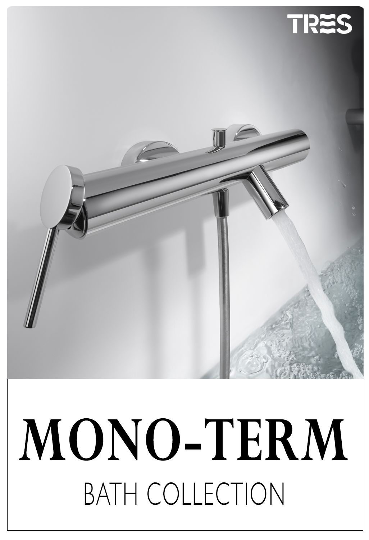Grifo Ba/ño-Ducha Modern | MiGrifo Maneta sin marca Rollo de Tefl/ón Gratis | Estilo Minimalista Monomando de Ba/ño-Ducha