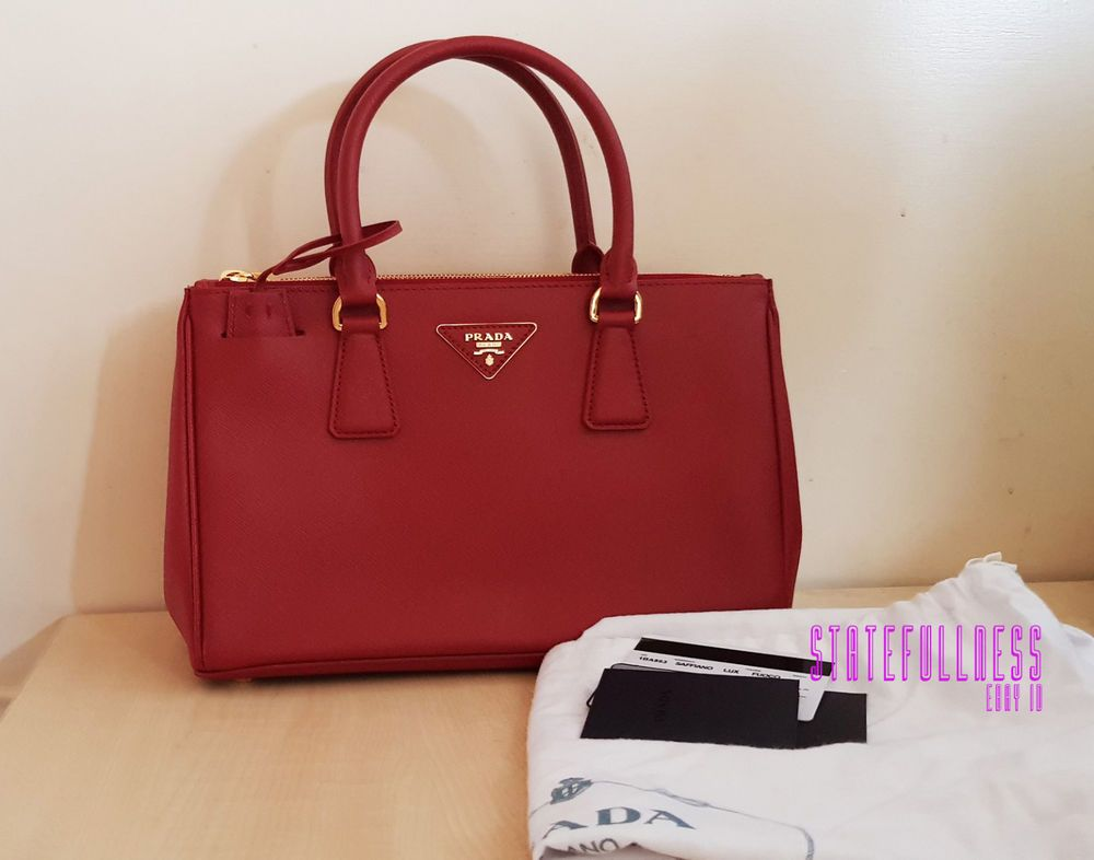 2b2209524ed62e AUTHENTIC PRADA RED FUOCO SAFFIANO LEATHER BAG 1BA863 1BN1801 GALLERIA TOTE  #fashion #clothing #shoes #accessories #womensbagshandbags (ebay link)