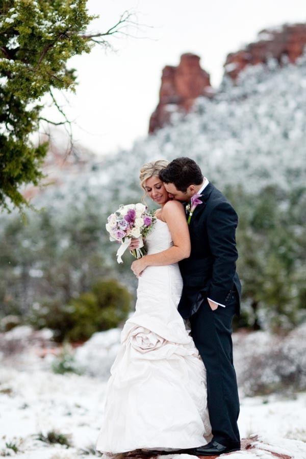 Snowy Sedona Wedding From Bride Photographers