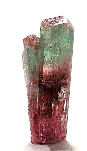 Bi-Color Tourmaline:  Jegdalek ruby deposit , Surobi District  Kabol Province , Afghanistan