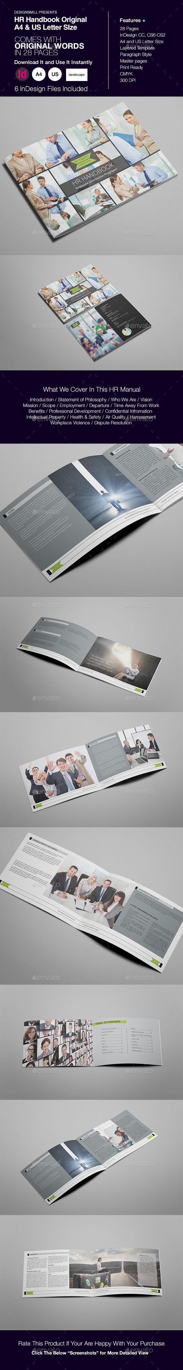 HR Handbook or Manual   Pinterest   Employee handbook, Print ...