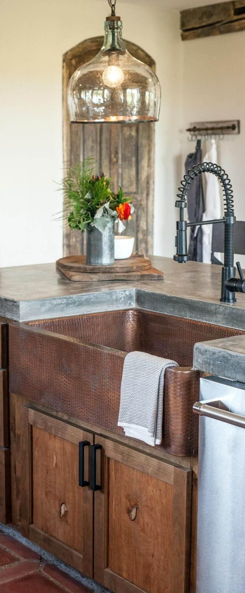 Get dozens of ideas for adding a farmhouse sink to your