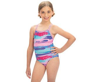Dolfin Uglies Girls Surfs Up Print One-Piece Swimsuit — QVC.com #surfgirls