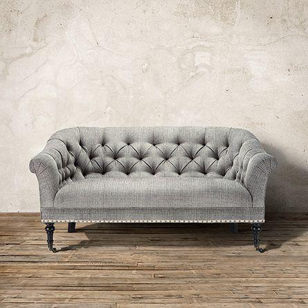 on home hermosa millbury beige settee upholstered rosevera hot loveseat tufted summer shop button sales