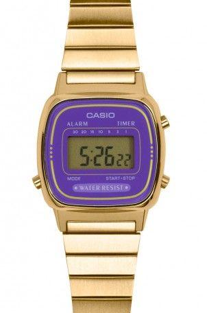 ac9540c3a7c6 Casio Classic Gold   Purple Watch