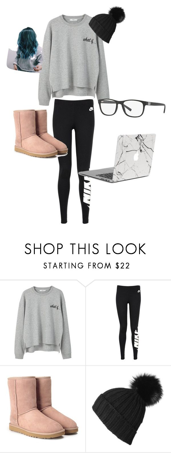 """""""Lazy winter weekend"""" by lovedance20 ❤ liked on Polyvore featuring MANGO, NIKE, UGG, Black and Armani Exchange"""
