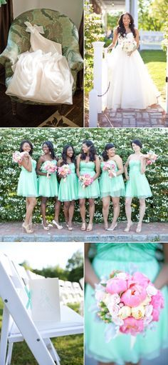 Mint bridesmaids dresses... IN LOVE!
