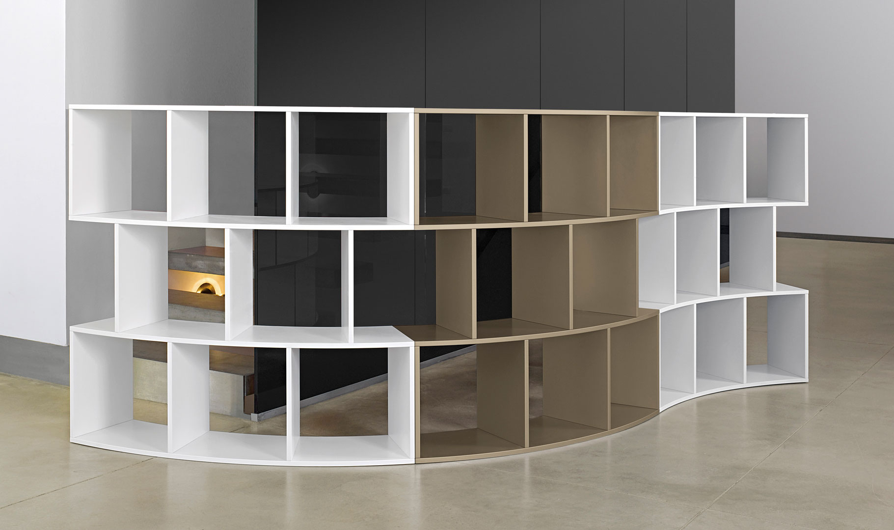 River Bookcase By Antonello Italia, Italy #Luxurystyle #Bookcase #Interiordesign