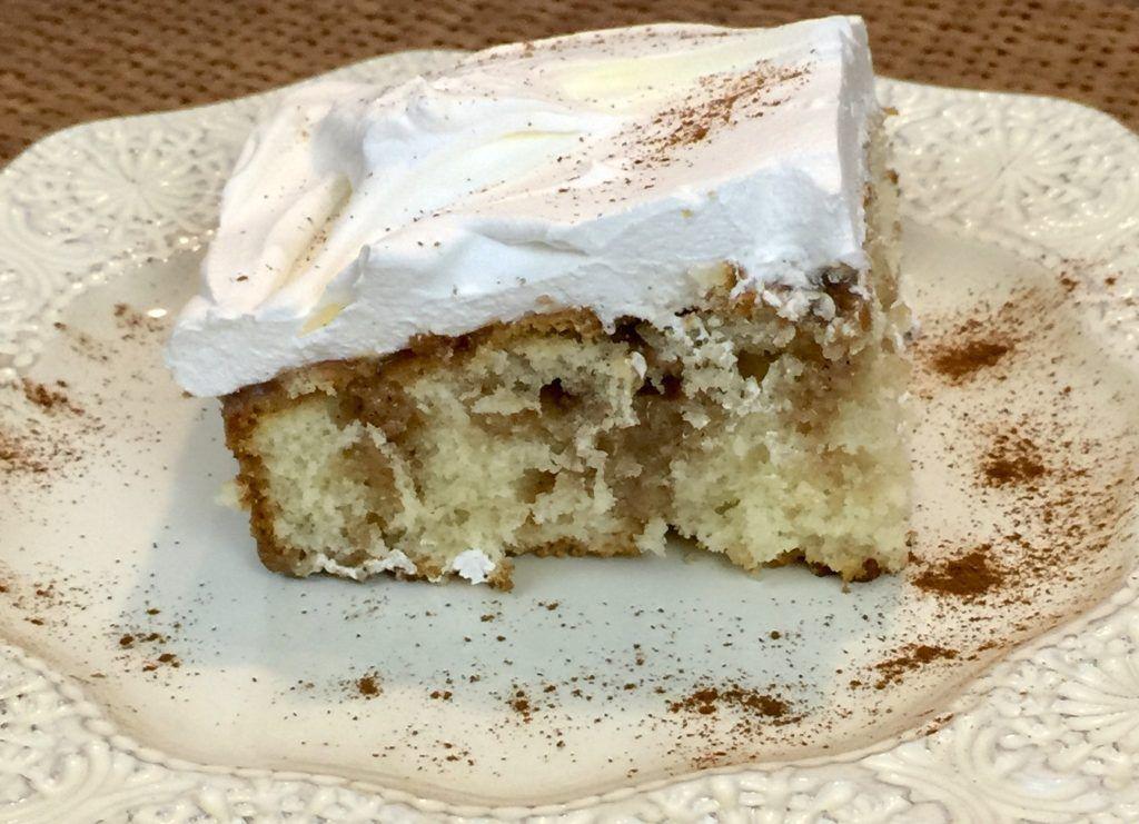 Cinnamon Roll Poke Cake Recipe   The Homespun Chics