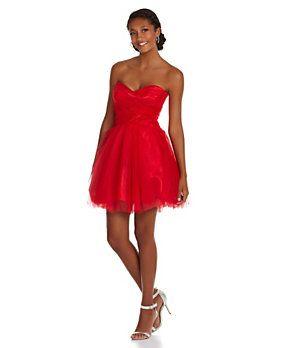 Roberta Strapless Party Dress | Dillard's Mobile