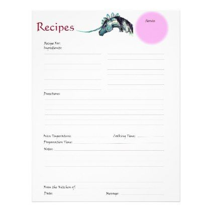 fancy unicorn horse recipe chef s cook baker s letterhead unicorn
