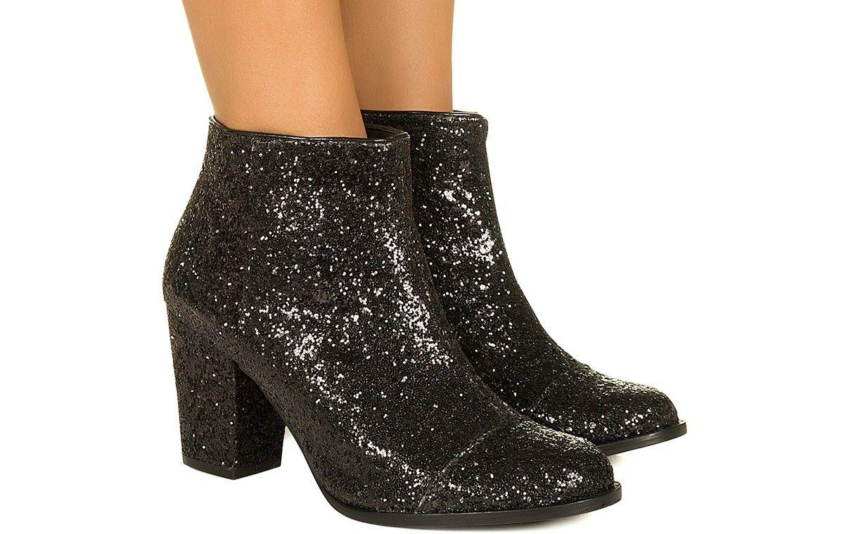 976c8edc7 Bota de glitter preta Taquilla - Taquilla - Loja online de sapatos femininos
