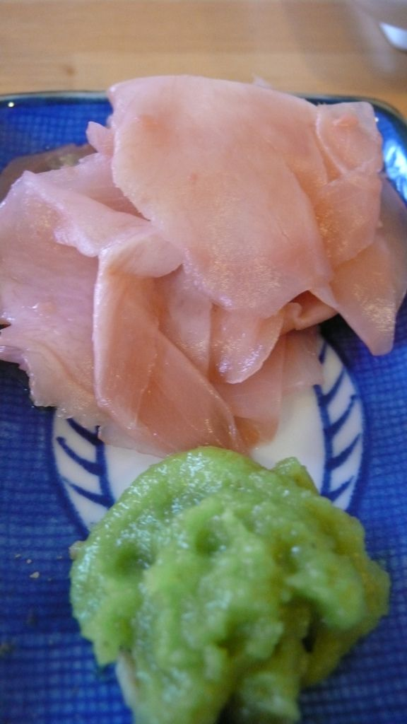 Pickled Ginger and Wasabi Paste