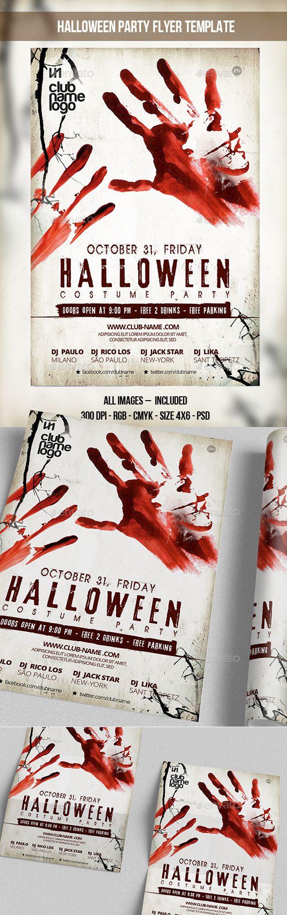 Halloween Party Flyer Template | Volantino per festa, Eventi e ...