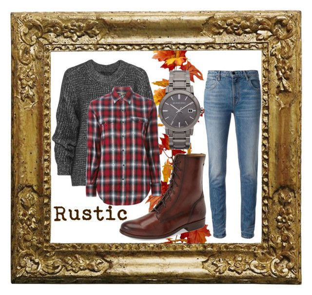 """""""Rustic"""" by sandytheduck on Polyvore featuring Belstaff, Yves Saint Laurent, Burberry, Alexander Wang, Frye and rustic"""