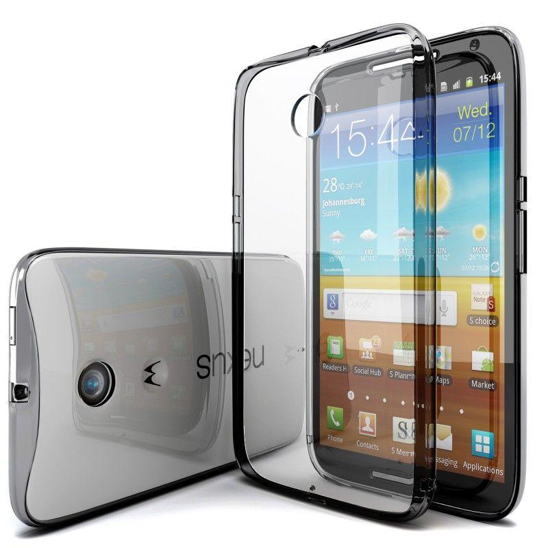 Google Nexus 6 Case, [GlowSpirit] Transparent Bumper Scratch Proof Case (Smoke)