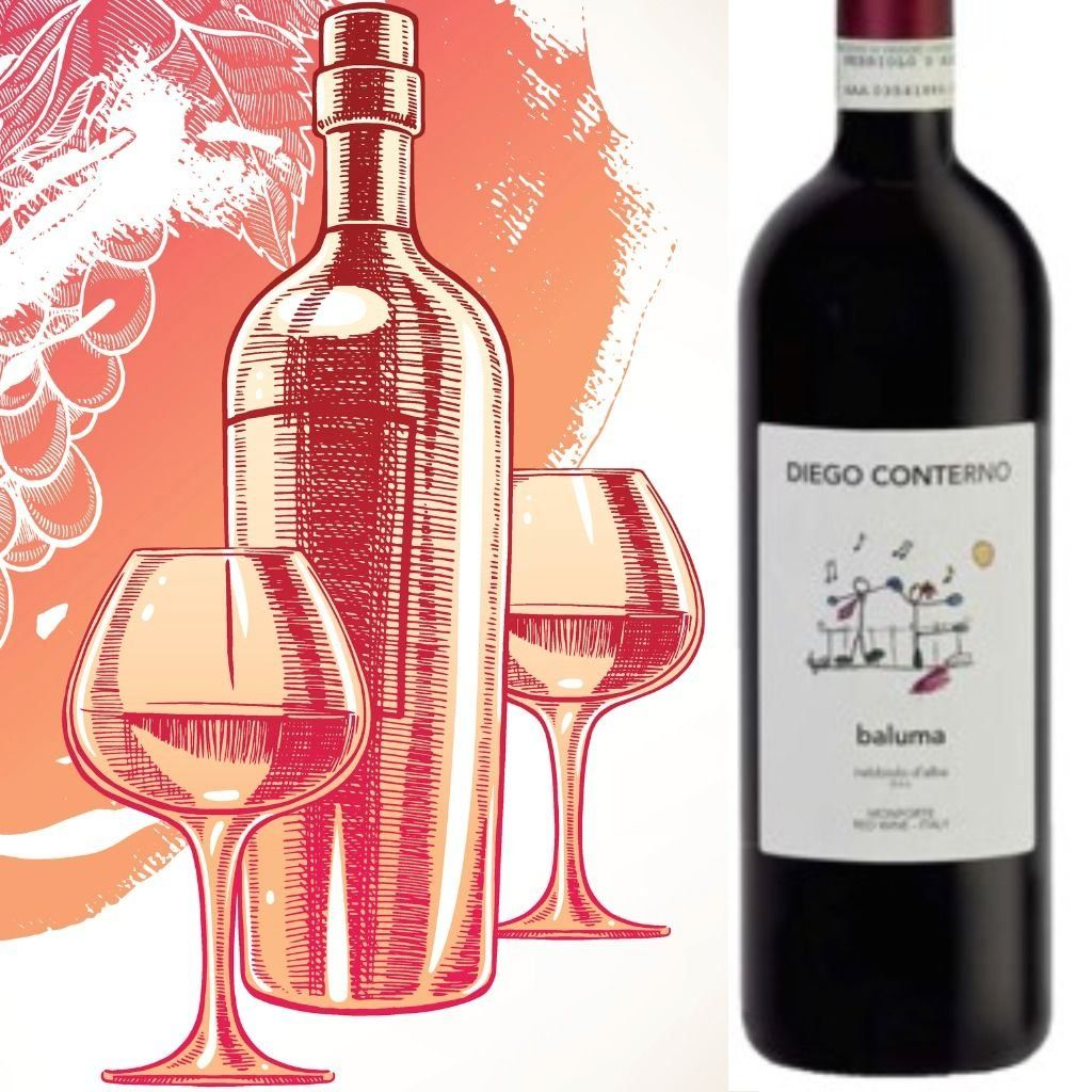 Diego Conterno Baluma 2017 Modern Design In 2020 Organic Grapes Red Berry Fruit Wine Bottle