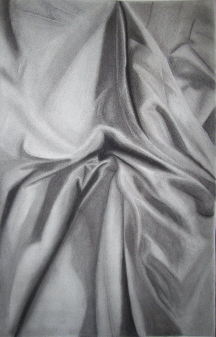 How To Draw Fabric Folds With Charcoal
