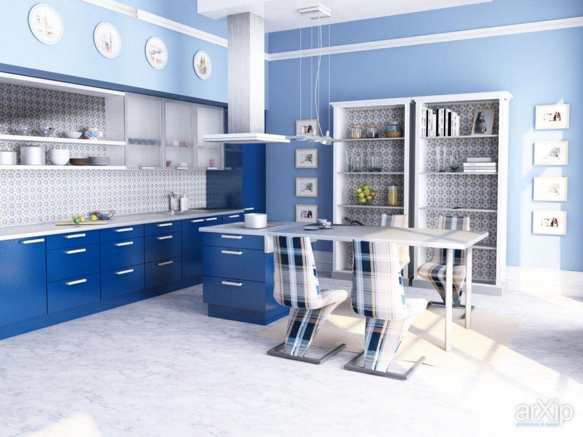 Кухня в современном стиле: интерьер, квартира, дом, кухня, современный, модернизм, 30 - 50 м2 #interiordesign #apartment #house #kitchen #cuisine #table #cookroom #modern #30_50m2 arXip.com