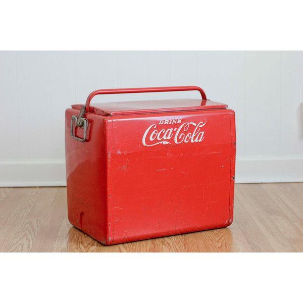 Vintage 1950s Metal Coca Cola Cooler Drink By Cavalier With Bottle Opener