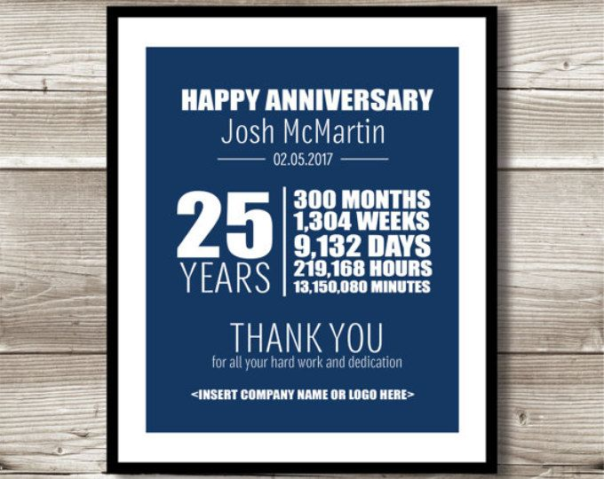 Employee Gifts 5 Year Work Anniversary Gift 5 Year Service Etsy Work Anniversary Work Anniversary Gifts Thank You Gifts