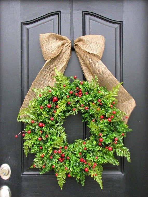 5 coronas de navidad para la puerta de tu casa coronas for Coronas navidenas para puertas 2016