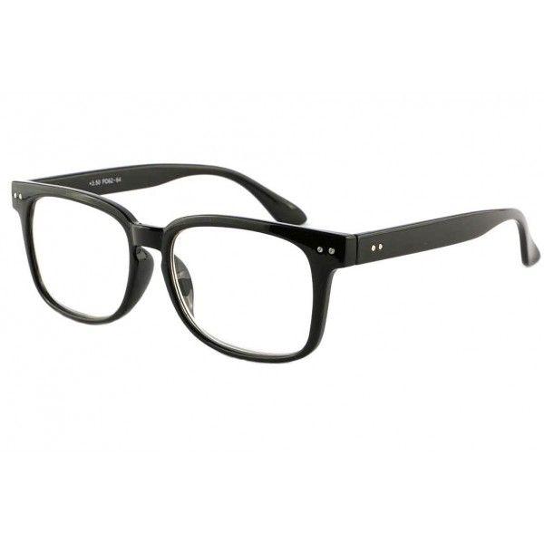 Grosses lunettes loupe noires homme et femme monture rectangulaire vintage  modèle Gio, lunettes lecture retro 676a75eafe9c