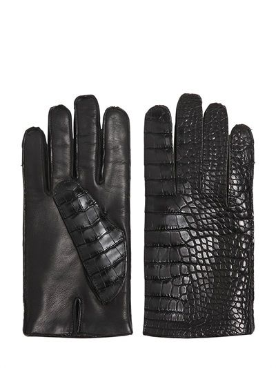 Pin By Lookastic On Men S Gloves Black Leather Gloves
