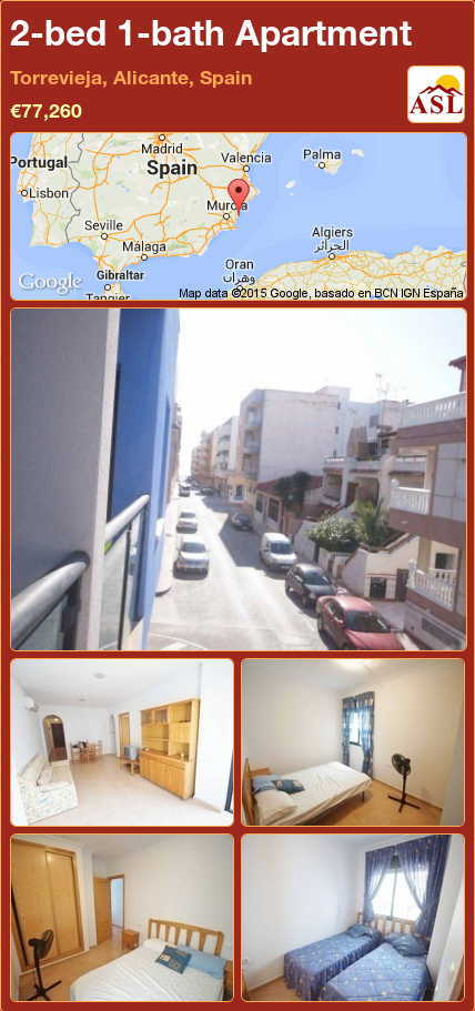 Apartment For Sale In Torrevieja Alicante Spain With 2 Bedrooms 1 Bathroom A Spanish Life Apartments For Sale Apartment Alicante