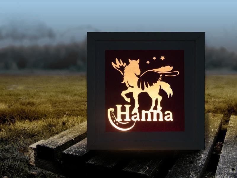 Pferd Lampe Geschenk fürs Kinderzimmer LED von Bastelstar auf ...