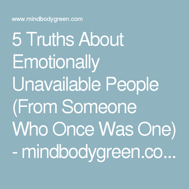 Person Unavailable 5 Truths About ...