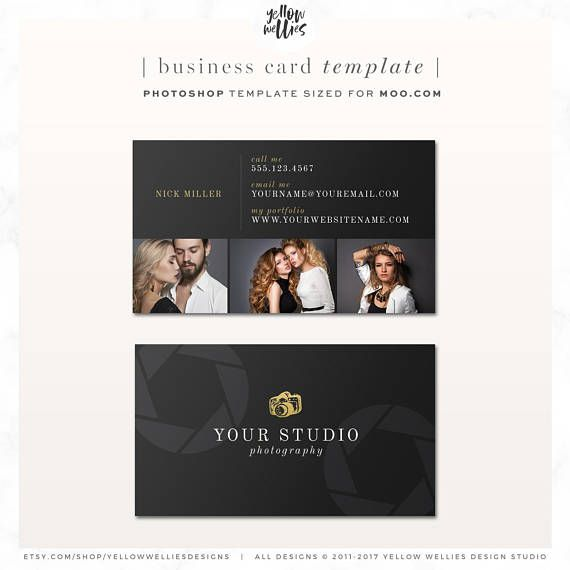 Photography business card photoshop template moo template yellow photography business card photoshop template moo template cheaphphosting Image collections
