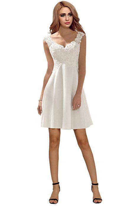 Shoppen Sie Milano Bride Elegant V-Ausschnitt Spitze Chiffon ...
