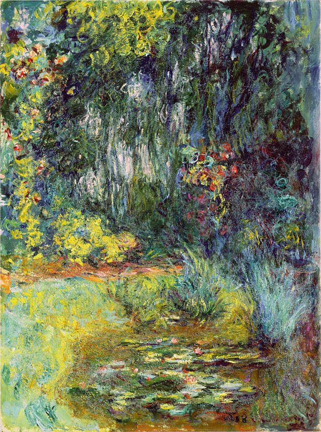 Claude monet estanque de nen fares 1918 arte flores for Pintura para estanques