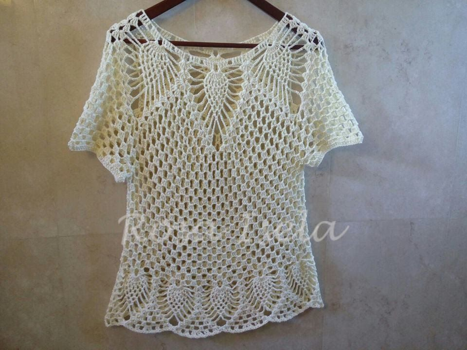 97a8e3140d blusa de piñas fácil y rápida parte 1