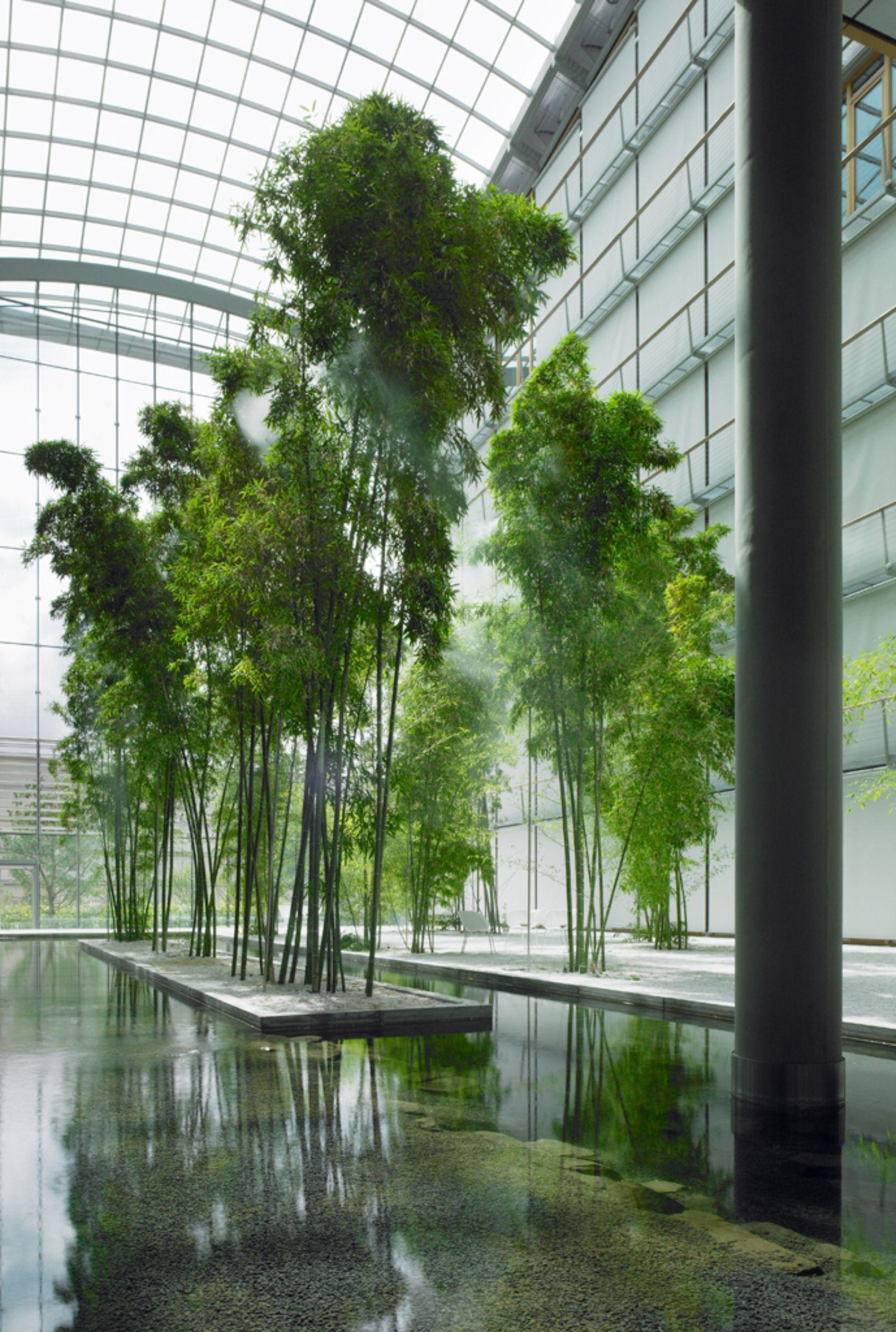 Lufthansa aviation center with ingenhoven architects landscape architektur - Grune architektur ...