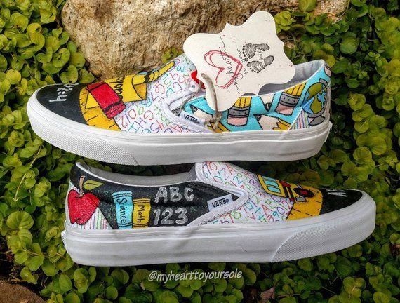 260f236fa73d9f Teacher vans teacher shoes teacher gifts teacher