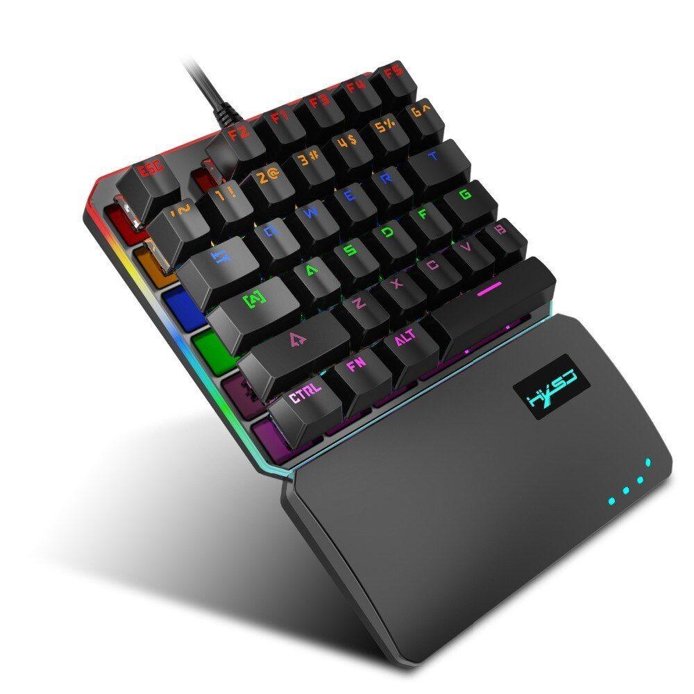 Hxsj New Rgb Marquee Mechanical Keyboard 35 Keys Multiple