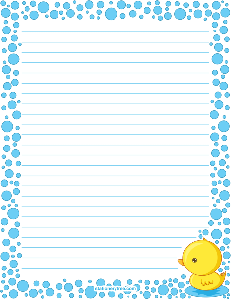 graphic about Printable Lined Paper With Border Pdf known as Pin via Muse Printables upon Stationery at
