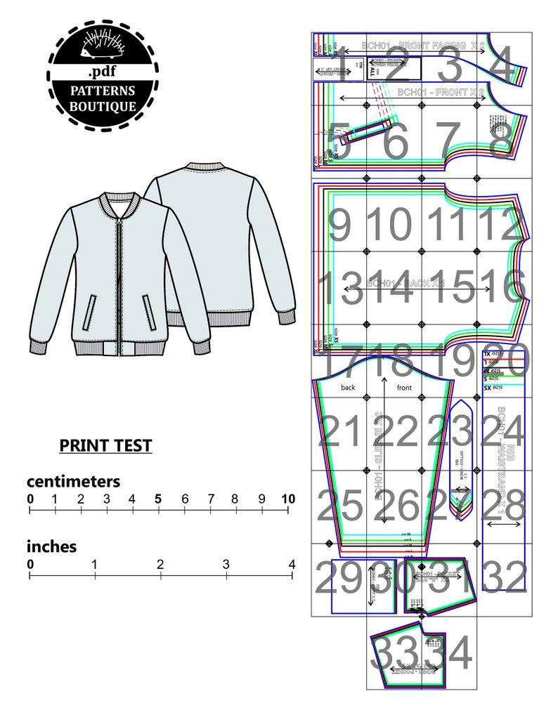 Men Jacket Pdf Sewing Pattern Bomber Jacket For Men Sizes From Xs To Xl Pattern Download Printable Pattern For Men Layered File Patterned Bomber Jacket Jacket Pattern Sewing Pdf Sewing Patterns [ 1028 x 794 Pixel ]