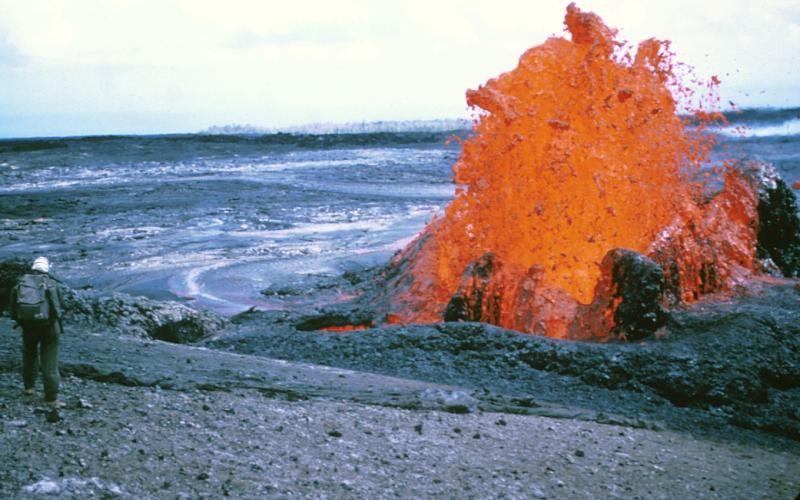 Parque Nacional de los Volcanes, en Hawái. Manua Loa