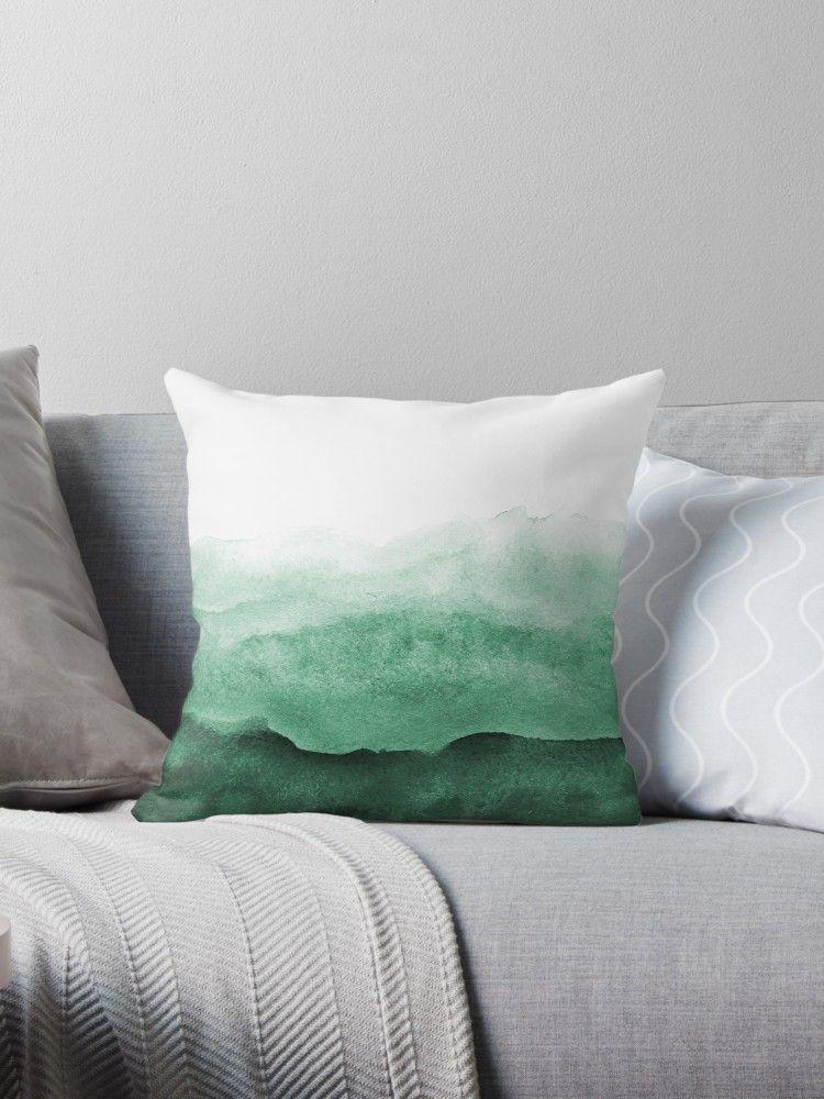 Emerald Jade Throw Pillow By Neptunedesigns Green Throw Pillows