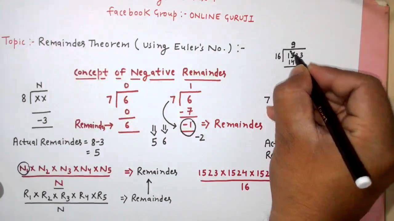 Ssc Cgl Number System Part 4 Remainder Concept 1 Number System Concept System [ 720 x 1280 Pixel ]