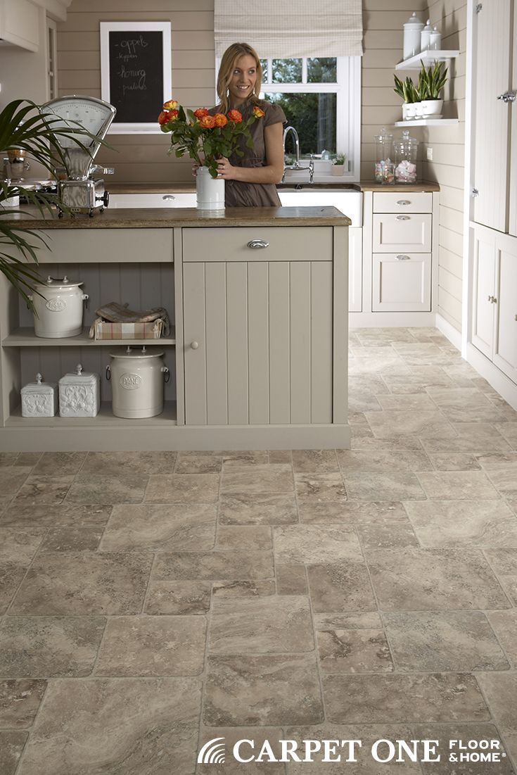 Vinyl Flooring Works Great In Kitchens And Comes In A Wide Variety Of Styles Vinyl Flooring Kitchen Kitchen Vinyl Vinyl Tile Flooring Kitchen