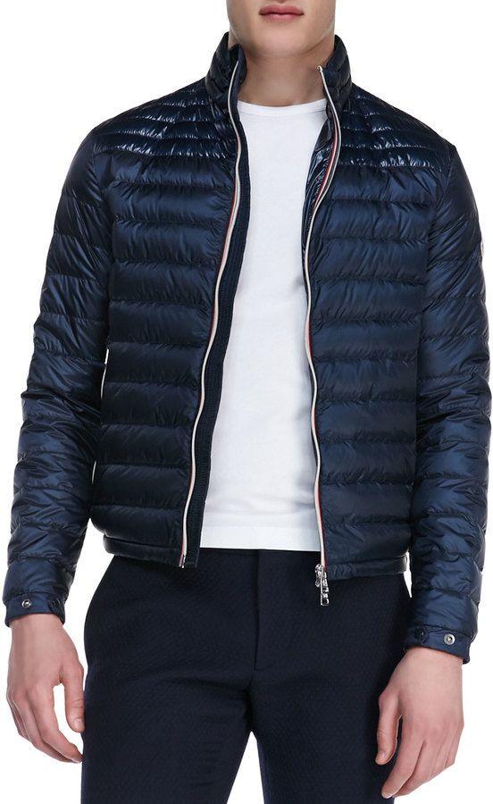 Moncler Daniel Lightweight Puffer Jacket, Dark Navy