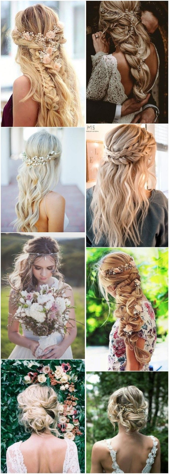boho inspired unique and creative wedding hairstyles weddings